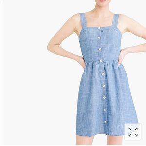 JCrew button front chambray dress size 2